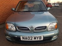 USED 2002 02 NISSAN MICRA 1.0 L 5d