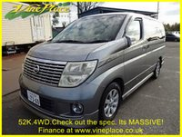 2005 NISSAN ELGRAND 3.5XL 4WD, Auto, Twfin Sunroof,Curtains £9000.00