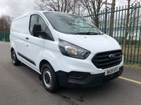 2018 FORD TRANSIT CUSTOM 2.0 300 BASE P/V L1 H1 1d 104 BHP £13995.00