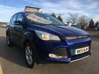 2015 FORD KUGA 2.0 ZETEC TDCI 5 DOOR SUV, ONLY 20,000 MILES £11995.00