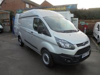 2014 FORD TRANSIT CUSTOM LONG WHEEL BASE 2.2 TDCI 330 P/V 125 BHP, ONE OWNER, FULL SERVICE HISTORY, ELECTRIC WINDOWS, HEATED SEATS, THIS VAN DRIVES LIKE 50 K MILES SOLD WITH WARRANTY A PLEASURE  .... PREMIER VAN SALES 0161 429 8644  £6500.00