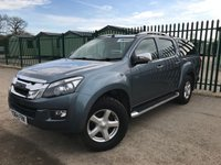 USED 2014 64 ISUZU D-MAX 2.5 TD UTAH VISION DCB 1d 164 BHP REAR CANOPY SAT NAV LEATHER NO VAT NO VAT. 4WD. REAR CANOPY. SATELLITE NAVIGATION. STUNNING GREY MET WITH FULL BLACK LEATHER TRIM. ELECTRIC HEATED SEATS. CRUISE CONTROL. AIR CON. SIDE STEPS. 17 INCH ALLOYS. COLOUR CODED TRIMS. PRIVACY GLASS. PARKING SENSORS. BLUETOOTH PREP. CLIMATE CONTROL. PAS. R/CD PLAYER. MFSW. TOW BAR. ROOF BARS. MOT 09/19. ONE PREV OWNER. SERVICE HISTORY. PICK-UP & VAN CENTRE- LS23 7FQ. TEL 01937 849492 OPTION 3