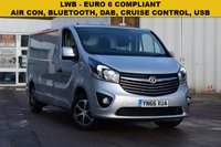 USED 2016 66 VAUXHALL VIVARO 1.6 2900 L2H1 CDTI P/V SPORTIVE 1d 114 BHP A EURO 6 COMPLIANT 2016 Vx Vivaro 2900 1.6cdti 115 sportive L2 H1 in silver metallic with service history and 2 keys.