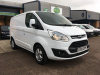 USED 2016 65 FORD TRANSIT CUSTOM 2.2 270 LIMITED L1 H1 124 BHP FSH, A/C, ALLOYS, FULLY LOADED, FINANCE ARRANGED & 6 MONTHS WARRANTY. FSH, A/C, front & rear Parking Sensors, heated seats, alloys, heated screen, cruise control, Bluetooth, electric power folding mirrors, E/W, DAB Radio, Drivers airbag, Factory fitted bulk head, colour coded, side loading door, load liner, Very Good Condition, 1 Owner, remote Central Locking, Drivers Airbag, Steering Column Radio Control, Barn Rear Doors, spare key, finance arranged on site & 6 months premium Autoguard warranty