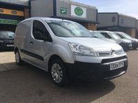 USED 2014 64 CITROEN BERLINGO 1.6 625 ENTERPRISE L1 HDI 1d 74 BHP A/C, P/SENSORS, BLUETOOTH, E/W, 6 MONTHS WARRANTY & FINANCE ARRANGED. FSH, A/C, E/W, Bluetooth, parking sensors, 3 seats, sat nav screen, Radio/CD, driver's airbag, factory fitted bulk head, Side loading door, Silver, Very Good Condition, 1 Owner, remote Central Locking, Drivers Airbag, CD Player/FM Radio, Steering Column Radio Control, Side Loading Door, Barn Rear Doors, spare key, finance arranged on site & 6 months premium Autoguard warranty.