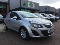 USED 2014 14 VAUXHALL CORSA 1.2 CDTI ECOFLEX S/S 1d 93 BHP FSH, ONLY 60,000 MILES, A/C, FINANCE ARRANGED & 6 MONTHS WARRANTY. FSH, Only 60,000 miles, A/C, E/W, parking sensors, Radio/CD, driver's airbag, factory fitted bulk head, Silver, Very Good Condition, 1 Owner, remote Central Locking, Drivers Airbag, CD Player/FM Radio, tailgate, finance arranged on site & 6 months premium Autoguard warranty.