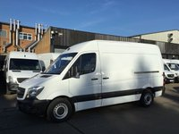 USED 2016 16 MERCEDES-BENZ SPRINTER 2.1 313CDI MWB HIGH ROOF 130BHP. WARRANTY. 1 OWNER. FSH. 1 OWNER. FSH. LOW FINANCE. WARRANTY. PX WELCOME