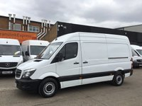 USED 2014 14 MERCEDES-BENZ SPRINTER 2.1 313CDI MWB HIGH ROOF 130BHP. 1 OWNER. FSH. FINANCE. LOW FINANCE. WARRANTY. CHOICE OF 100 VANS. PX