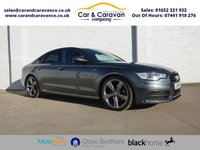 USED 2014 14 AUDI A6 2.0 TDI S LINE BLACK EDITION 4d AUTO 175 BHP AUDI Dealer History Leather A/C Buy Now, Pay Later Finance!