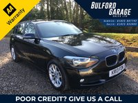 2013 BMW 1 SERIES 1.6 116D EFFICIENTDYNAMICS 5d 114 BHP £8475.00