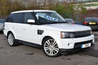 USED 2012 12 LAND ROVER RANGE ROVER SPORT 3.0 SDV6 HSE 5d AUTO 255 BHP 2 KEYS ~ FUJI WHITE ~ 6 MONTHS WARRANTY ~ 6 MONTHS BREAKDOWN COVER
