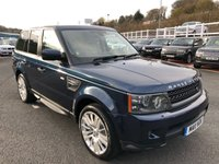 USED 2011 11 LAND ROVER RANGE ROVER SPORT 3.0 TDV6 HSE 5d 245 BHP Met Blue with Cream leather, facelift model with high HSE specification