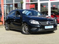 USED 2014 14 MERCEDES-BENZ A-CLASS 1.8 A200 CDI BLUEEFFICIENCY SPORT 5d 136 BHP STUNNING, £30 ROAD TAX, MERCEDES A CLASS A200 1.8 BLUEEFFICIENCY CDI SPORT, 136 BHP. Finished in COSMOS BLACK METALLIC with contrasting Dark Grey Part Leather Sports Trim. This A class certainly looks smart, with its slim lights and smooth body panels. There's plenty of room in the front and the back which will suit the average family.