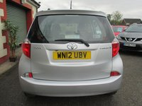 USED 2012 12 TOYOTA VERSO-S 1.3 VVT-I TR 5d 98 BHP FULL SERVICE HISTORY ( SEE IMAGES )