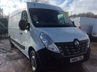 USED 2016 66 RENAULT MASTER LWB 2.3 LM35 BUSINESS DCI S/R 125 BHP 1 OWNER FSH MANUFACTURER'S WARRANTY EURO 6 SPARE KEY 6 SPEED ELECTRIC WINDOWS AND MIRRORS BLUETOOTH REAR PARKING SENSORS