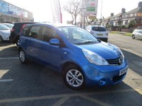 2009 NISSAN NOTE 1.4 ACENTA 5d 88 BHP £3677.00