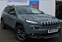 USED 2014 M JEEP CHEROKEE 2.0 M-JET LIMITED 5d 4x4 AUTO Family SUV with Massive High Spec inc Sat Nav Heated & Cooled Leather Seats Rear Camera Ft and Rr Parking Sensors DAB Radio and much more **ONE FORMER KEEPER**