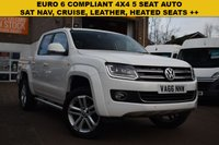 USED 2016 66 VOLKSWAGEN AMAROK 2.0 DC TDI HIGHLINE 4MOTION 1d AUTO 180 BHP A gorgeous December 2016 Vw Amarok 2.0 BiTDi 180 HIGHLINE DOUBLE CAB 4X4 AUTOMATIC in white with just 19000 miles.
