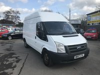 2008 FORD TRANSIT 2.4 350 LWB HR 2 DOOR 100 BHP IN WHITE WITH A HIGH TOP LONG WHEEL BASE BODY. £1999.00
