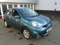 USED 2015 15 NISSAN MICRA 1.2 ACENTA 5d 79 BHP Retail price £6995,with £500 minimum part exchange allowance,balance price £6495
