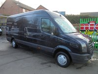 2012 VOLKSWAGEN CRAFTER CR35 TDI 2.0 CR35 136 BHP  METALLIC BLACK  LONG WHEEL BASE,FULL SERVICE HISTORY,JUST HAD TIMING BELT KIT FITTED, SUPER CONDITION ALL ROUND  !! NO VAT !! NO OFFERS !! £SOLD