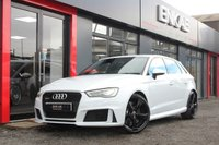 "USED 2016 65 AUDI RS3 2.5 RS3 SPORTBACK QUATTRO NAV 5d AUTO 362 BHP STUNNING GLACIER WHITE*RS3 DYNAMIC PACK SUPER SPORTS EXHAUST AND SUSPENSION*B&O SOUND SYSTEM*OPTIONAL JL AUDIO PROFESSIONALLY FITTED*19 INCH POWDER COATED BLACK ROTAR WHEELS*TYRE PRESSURE MONITORING SYSTEM*360 PARKING SENSORS*PRIVACY GLASS*INTERIOR LIGHTING PACK*FLAT BOTTOM ALCANTARA STEERING WHEEL*AUTO DIM REAR VIEW MIRROR*PRIVACY GLASS*NEW DISK + PADS FROM AUDI HUDDERSFIELD*HEATED SEATS*LED DAYTIME RUNNING LIGHTS*LED REAR LIGHTS*AUTO LIGHTS*19"" ROTA GLOSS BLACK*DRIVE SELECT*"