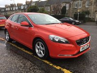 USED 2013 13 VOLVO V40 1.6 D2 SE NAV 5d 113 BHP OUR  PRICE INCLUDES A 6 MONTH AA WARRANTY DEALER CARE EXTENDED GUARANTEE, 1 YEARS MOT AND A OIL & FILTERS SERVICE. 6 MONTHS FREE BREAKDOWN COVER.    CALL US NOW FOR MORE INFORMATION OR TO BOOK A TEST DRIVE ON 01315387070 !!