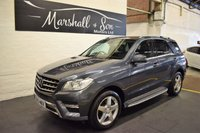 USED 2013 13 MERCEDES-BENZ M CLASS 3.0 ML350 BLUETEC SPORT 5d AUTO 258 BHP MB SERVICE HISTORY - NAV - HALF LEATHER - SIDE STEPS - POWER BOOT