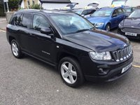 USED 2011 11 JEEP COMPASS 2.1 CRD LIMITED 4WD 5d 161 BHP OUR  PRICE INCLUDES A 6 MONTH AA WARRANTY DEALER CARE EXTENDED GUARANTEE, 1 YEARS MOT AND A OIL & FILTERS SERVICE. 6 MONTHS FREE BREAKDOWN COVER. CALL US NOW FOR MORE INFORMATION OR TO BOOK A TEST DRIVE ON 01315387070 !!