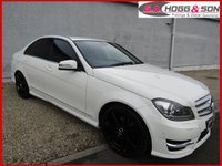 USED 2011 11 MERCEDES-BENZ C CLASS 2.1 C220 CDI BLUEEFFICIENCY SPORT 4dr AUTO 168 BHP *FACELIFT MODEL FINISHED IN WHITE* PRIVACY GLASS, AMG GRILLE & HALF LEATHER INTERIOR