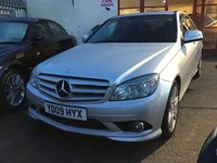 USED 2009 09 MERCEDES-BENZ C CLASS 2.1 C220 CDI SPORT 4d AUTO 168 BHP Diesel, automatic, leather, alloys, superb.