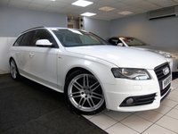 USED 2010 10 AUDI A4 2.0 AVANT TDI S LINE SPECIAL EDITION 5d 168 BHP