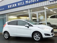 USED 2016 65 FORD FIESTA 1.25 ZETEC 5dr .....ONE PRIVATE OWNER. FULL FORD SERVICE HISTORY