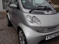 USED 2007 07 SMART FORTWO 0.7 PASSION SOFTOUCH 2d AUTO 61 BHP GREAT CITY CAR! ECO FRIENDLY PETROL POWERED SMALL CAR