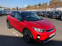 USED 2019 68 KIA STONIC 1.0 4 ISG 5d 118 BHP Blaze Red Metallic with Black roof, full leather, top of the range '4' model with 1,100 miles