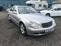 USED 2003 53 MERCEDES-BENZ S CLASS 3.2 S320 CDI 4d AUTO 204 BHP SATNAV-LEATHER-HEATED SEATS-SUNROOF-AUTOMATIC-DIESEL-LONG MOT
