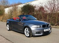 2010 BMW 1 SERIES 2.0 120I M SPORT 2d 168 BHP, FRONT AND REAR PARK, CORAL RED LEATHER £6795.00