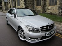 USED 2014 14 MERCEDES-BENZ C CLASS 2.1 C220 CDI AMG SPORT EDITION PREMIUM PLUS 4d AUTO 168 BHP PAN ROOF + COMMAND + PARKING