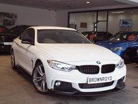 USED 2014 14 BMW 4 SERIES 3.0 430D M SPORT 2d AUTO 255 BHP M PERFROMANCE STYLING+SAT NAV