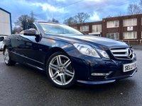 USED 2011 MERCEDES-BENZ E-CLASS 1.8 E200 CGI BLUEEFFICIENCY SPORT ED125 2d AUTO 184 BHP