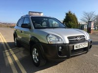 2007 HYUNDAI TUCSON 2.0 GSI CRTD 4WD 5 DOOR 138 BHP ONLY 71,000 MILES WITH SERVICE HISTORY £3195.00