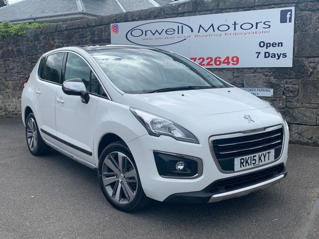 USED 2015 15 PEUGEOT 3008 1.6 HDI ALLURE 5d 115 BHP FINANCE AVAILABLE+SATELLITE NAVIGATION+CRUISE CONTROL+REVERSING CAMERA