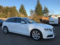 USED 2011 61 AUDI A4 2.0 TDI AVANT E TECHNIK 5d 135 BHP WITH SAT NAV, LEATHER SEATS AND SERVICE HISTORY NO DEPOSIT HP FINANCE ARRANGED , APPLY HERE NOW