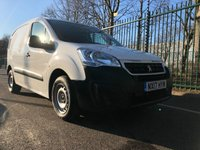 USED 2017 17 PEUGEOT PARTNER 1.6 BLUE HDI S L1 1d 100 BHP All Vehicles with minimum 6 months Warranty, Van Ninja Health Check and cannot be beaten on price!