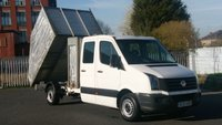 2013 VOLKSWAGEN CRAFTER CR35 TDI 35 2.0 TDI 109 LWB CREW CAB TIPPER WITH ALLOY HI SIDE BACK 1 OWNER 4 SERVICES STAMPS 2 KEYS FREE 12 MONTHS WARRANTY COVER  £9699.00