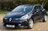 USED 2015 15 RENAULT CLIO 1.1 DYNAMIQUE MEDIANAV 5d 75 BHP FRSH, LOW MILES, NAV, B'TOOTH, MOT WITH NO ADV'S TO FEBRUARY 2020!