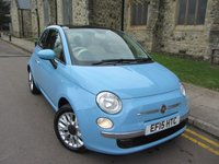 USED 2015 15 FIAT 500 1.2 LOUNGE 3d 69 BHP GLASS ROOF & EXTREMELY CLEAN