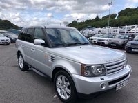 USED 2005 55 LAND ROVER RANGE ROVER SPORT 2.7 TDV6 HSE 5d 188 BHP Silver, Sand Beige full leather, high HSE Specification