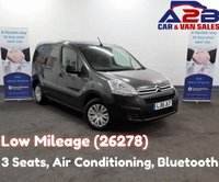 2016 CITROEN BERLINGO 1.6 625 ENTERPRISE BLUE HDI, Low Mileage (26286) 3 Seats, Air Conditioning, Bluetooth, Cruise Control, Rear Parking Sensors £7980.00