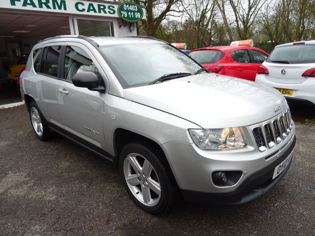 2012 12 JEEP COMPASS 2.4 LIMITED 4x4 5d AUTOMATIC 168 BHP FOUR WHEEL DRIVE